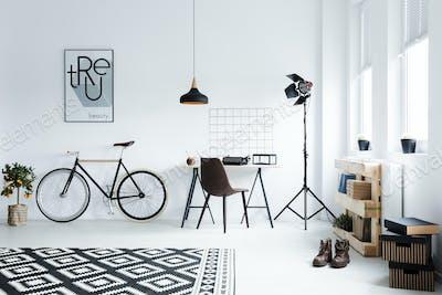 Minimalistic studio apartment