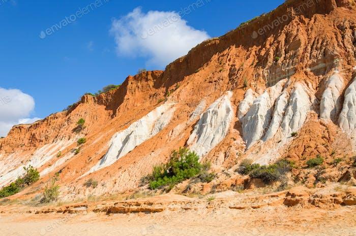 Red cliffs at Falesia Beach