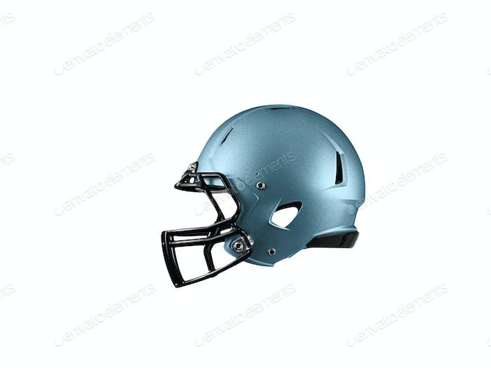Blue Football Helmet on white
