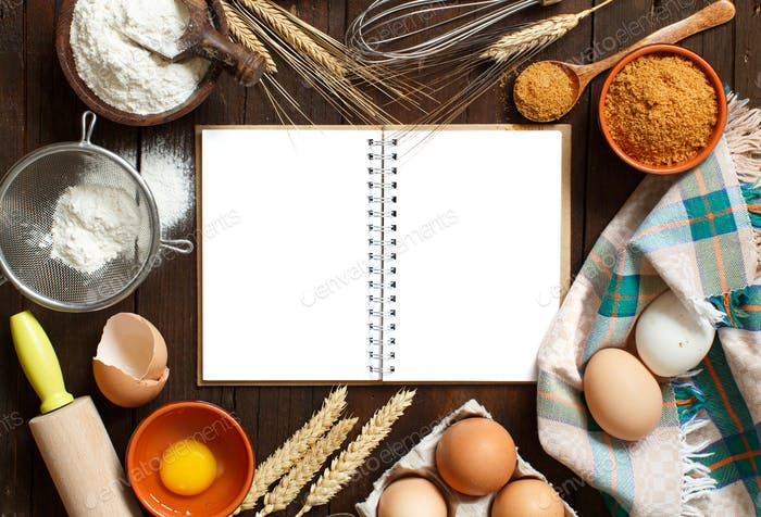 Cooking book and utensils