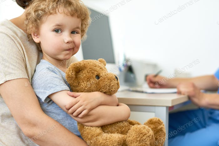 Cute Little Boy Visiting Doctor