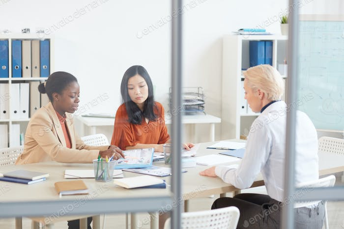 Female Business Team Meeting in Office