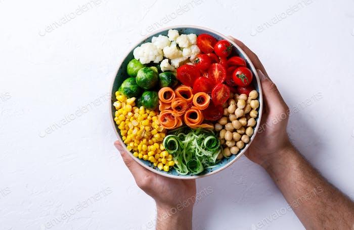Buddha-Schüssel vegetarisch.Essen oder gesunde Ernährung Konzept.