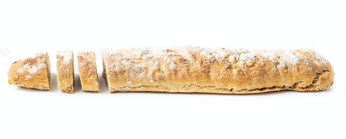 Fresh whole grain bread baguette