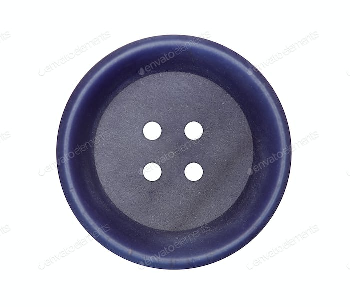 Detail of the button on white background