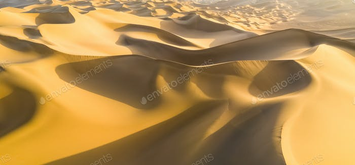golden sand dunes panorama