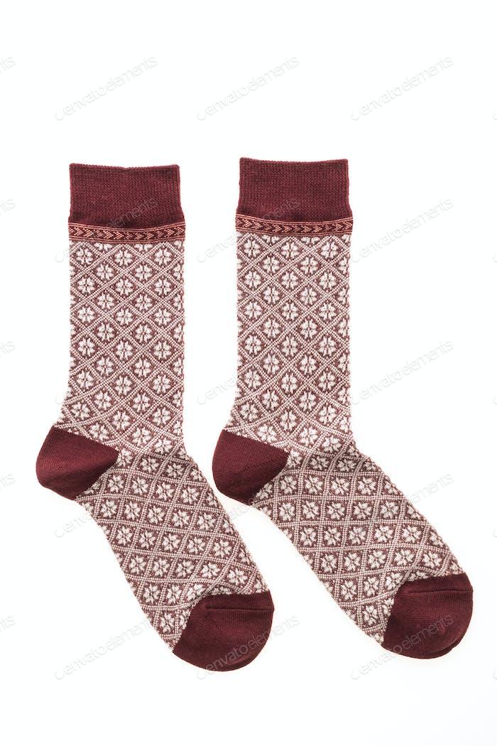 Paar Socke isoliert