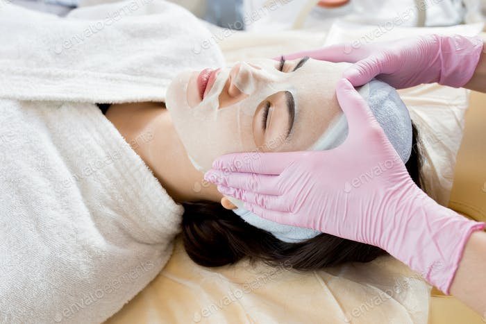 Asian Woman Enjoying Face Masks