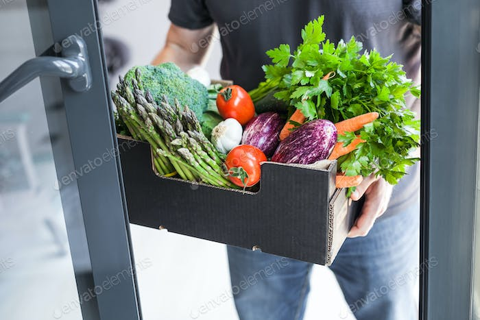 Fresh organic greens and vegetables delivery