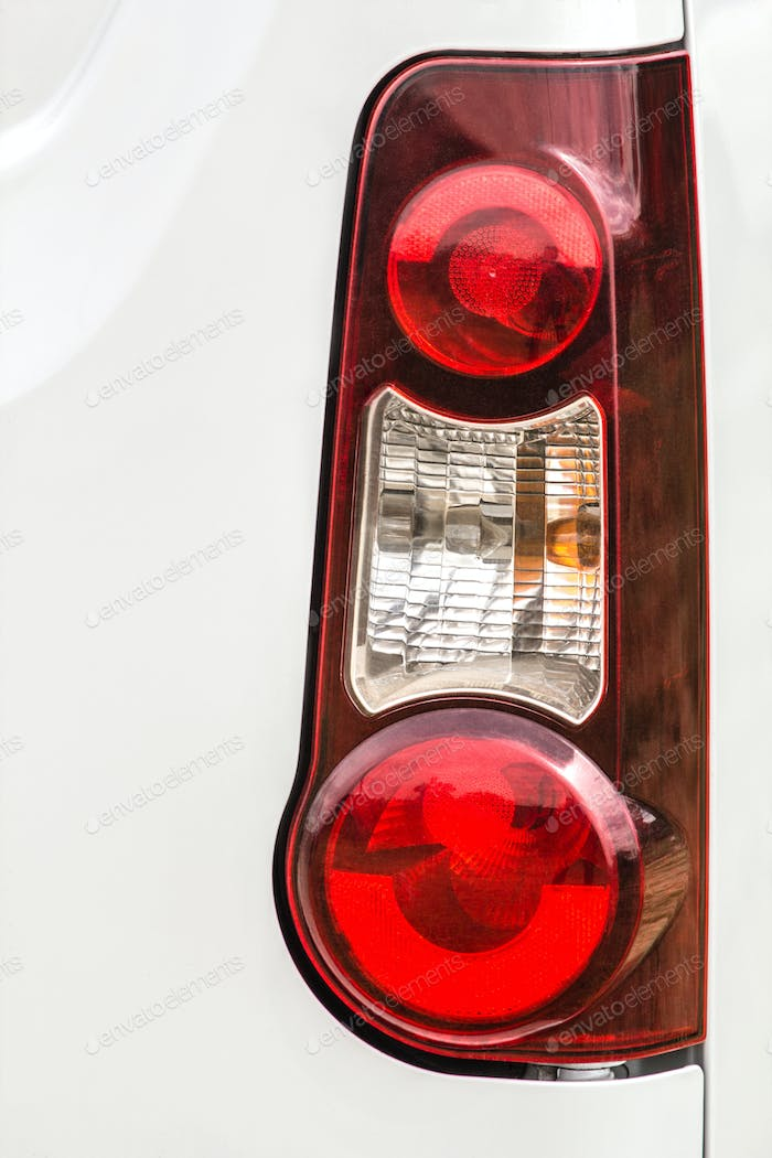 Taillight on a modern prestigious car