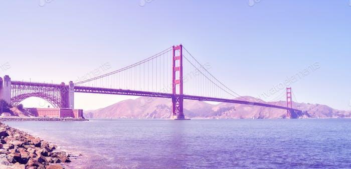Panoramabild von der Golden Gate Bridge, USA.