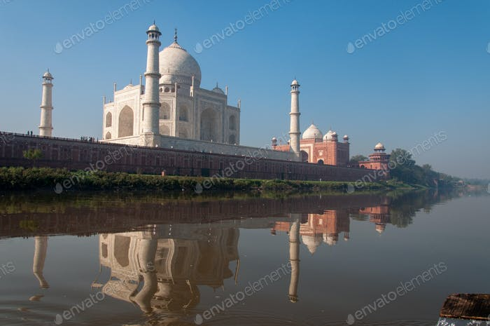 Taj Mahal from the river banks