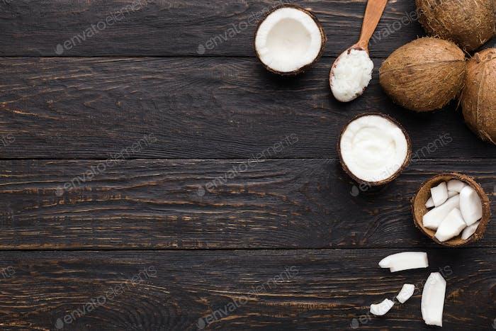 Zusammensetzung von Kokosprodukten