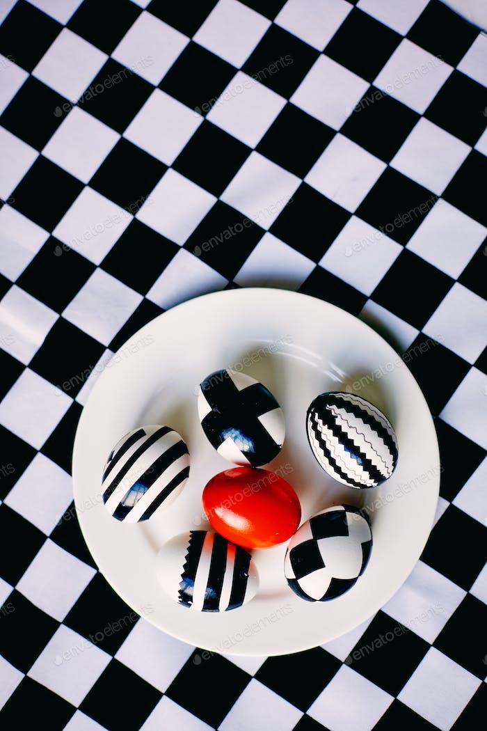 Easter chess eggs