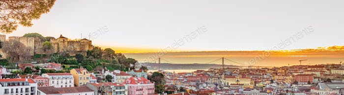 Lisbon fortress of Saint George view, Portugal