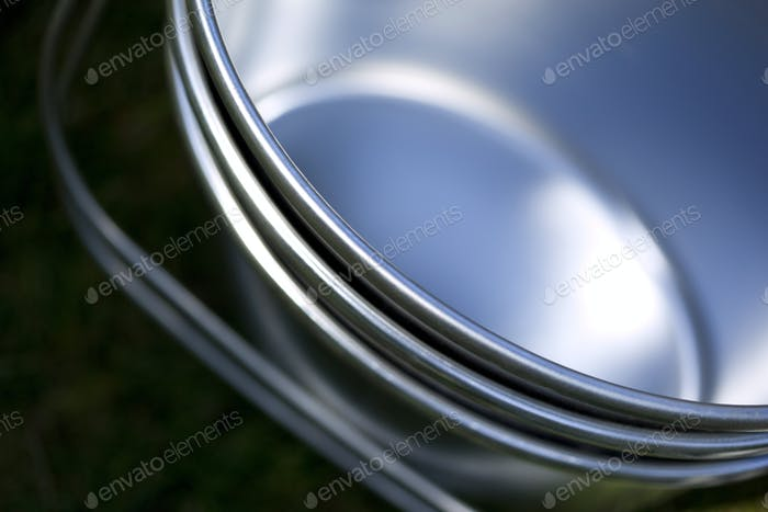 Macro of tin pans