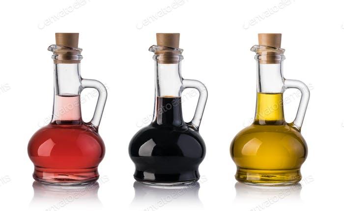 Bottle of olive oil and vinegar