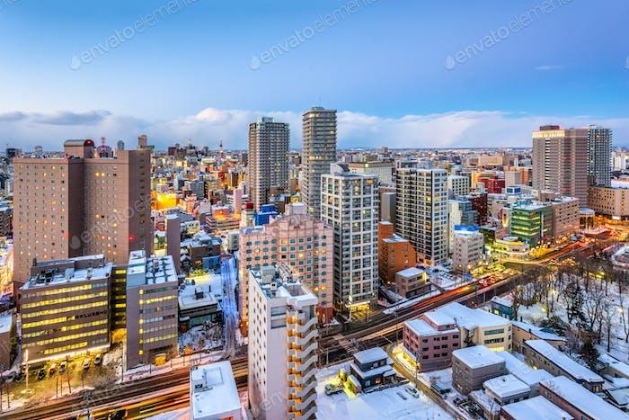 Sapporo, Hokkaido, Japanische Skyline