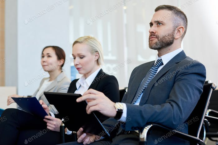 Businessman in Audience