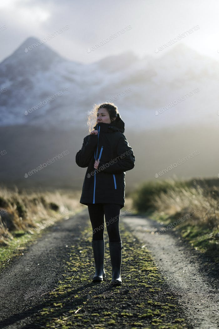 Woman at Glen Etive