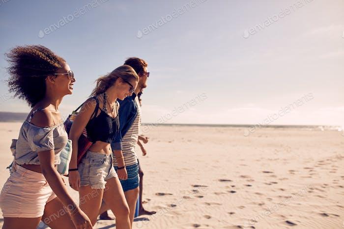 Amigos en la Playa juntos