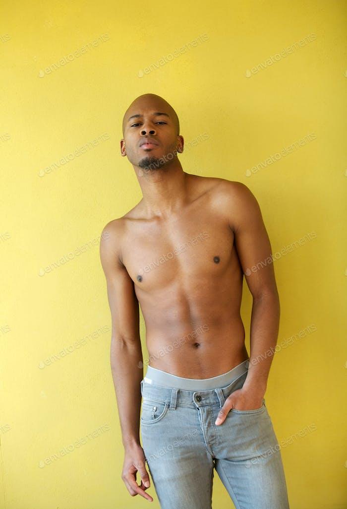 Porträt eines coolen schwarzen Kerl