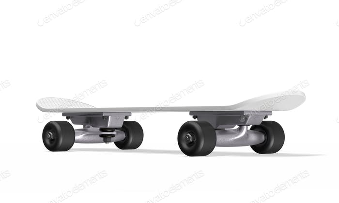 Skateboard on a white background. 3d rendering