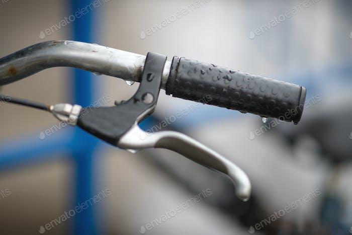 nasses Fahrradrad