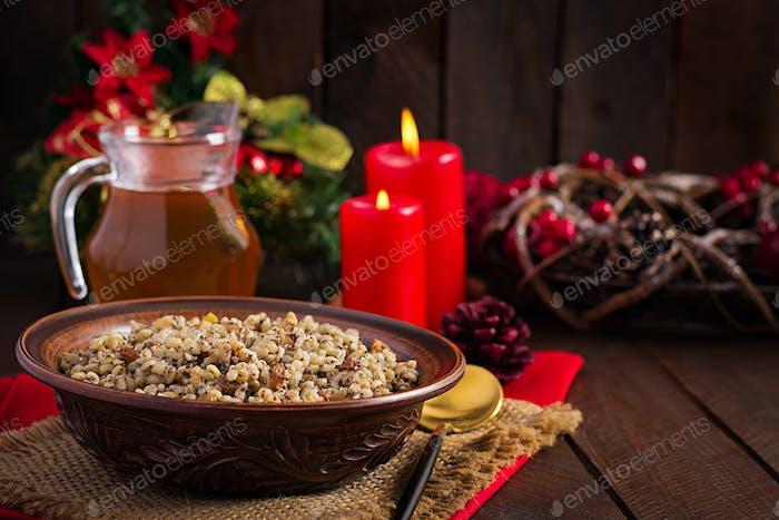 Christmas kutia. Ukrainian cuisine.
