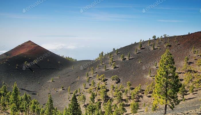 Volcanoes route in La Palma island