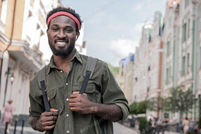 Black man in the city