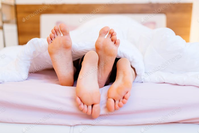 Lovers having sex