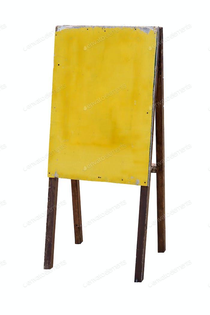 Antiguo soporte de publicidad de De madera