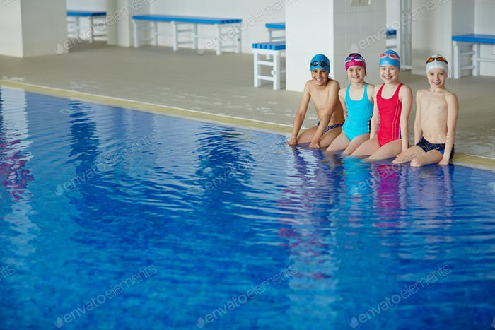 Youngsters in swimming pool