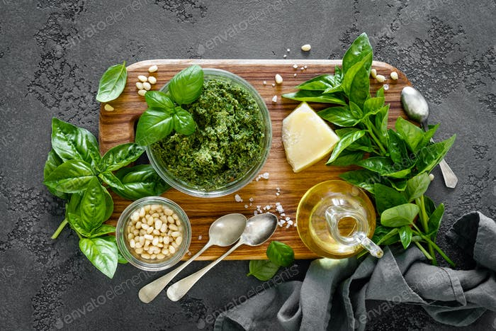 Traditional italian pesto alla genovese