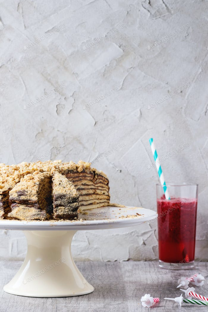 Hausgemachte Geburtstag Honigkuchen