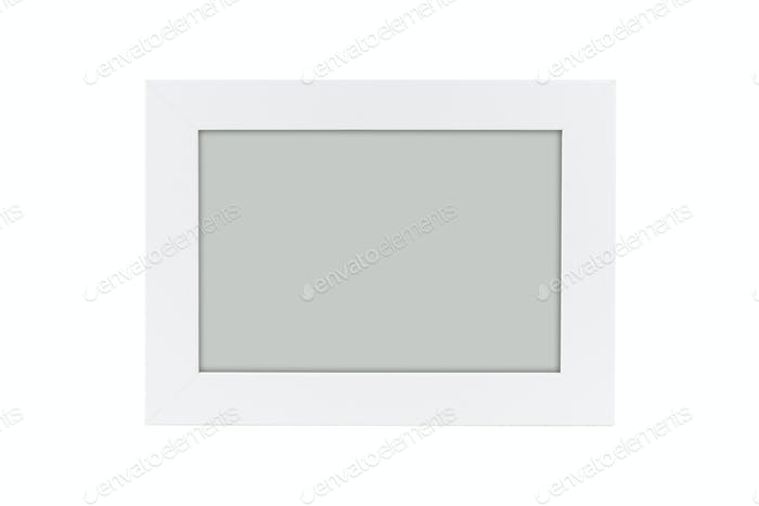 Empty photo frame isolated