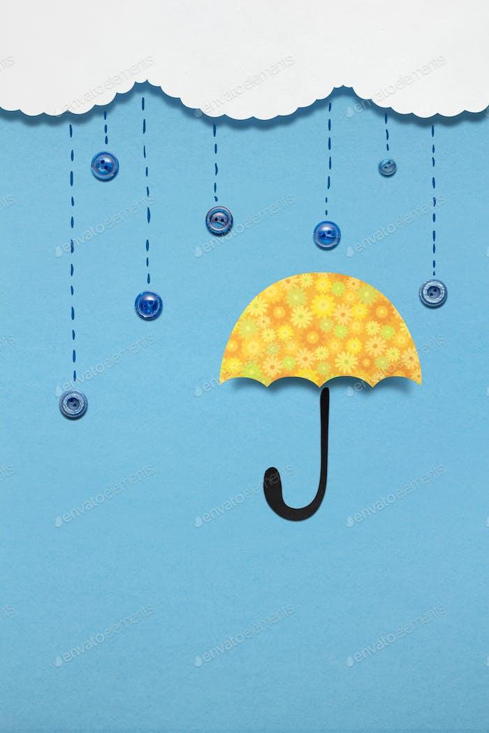 When it rains.
