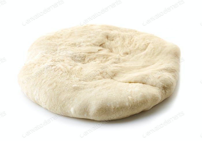fresh raw flat dough