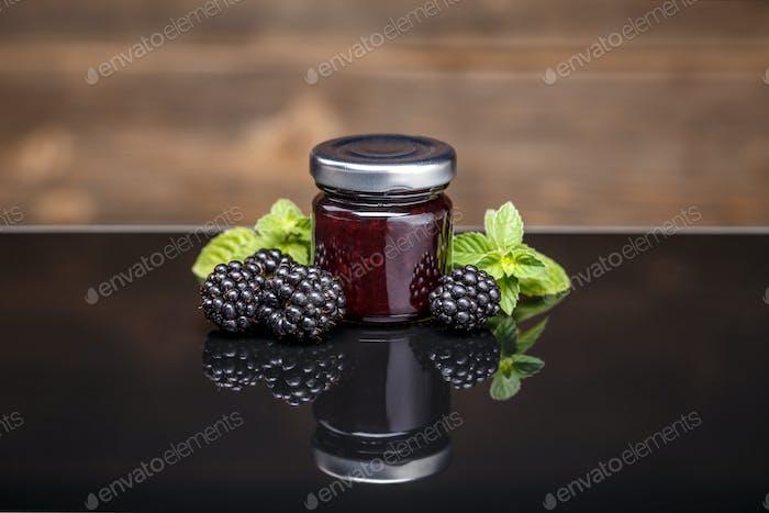Fresh homemade blackberry jam