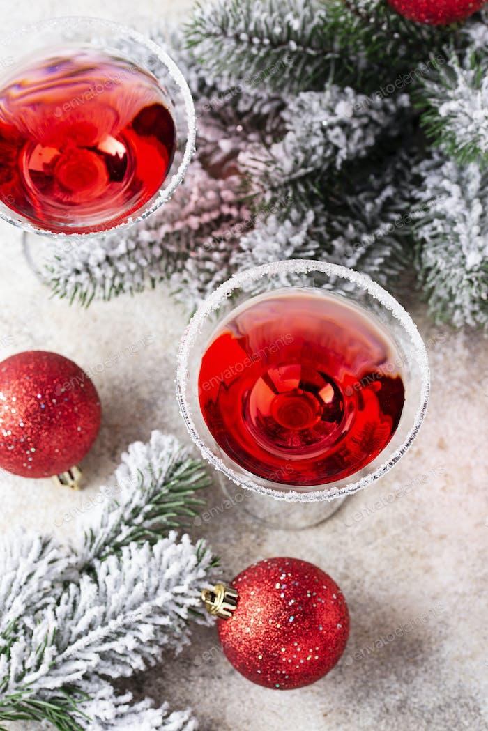 Weihnachten festliche Cocktail rot Martini