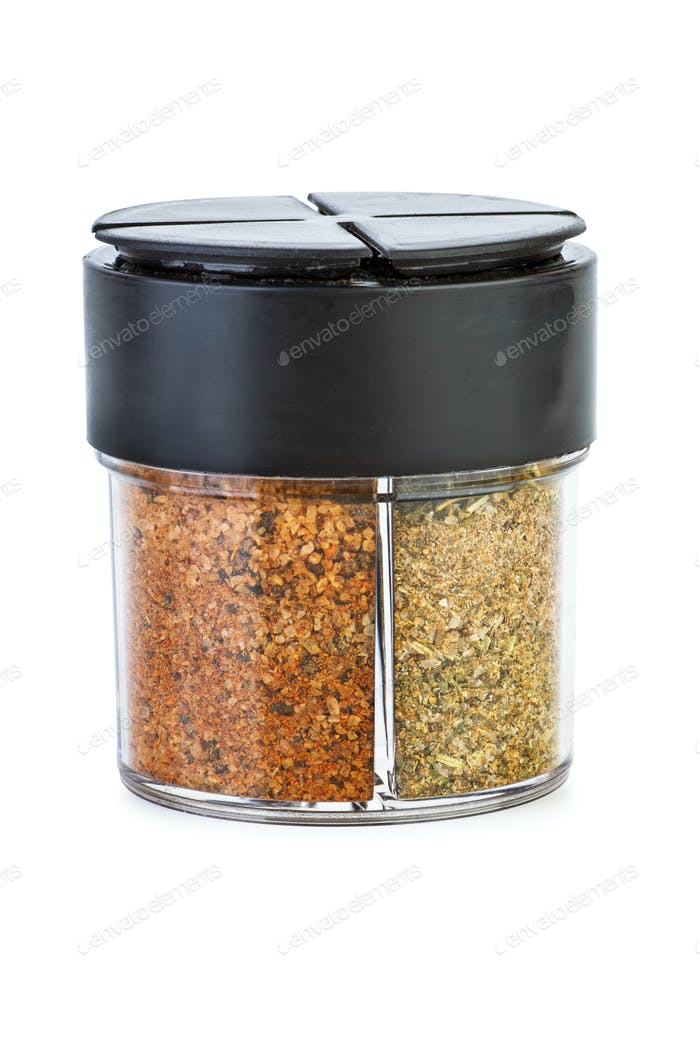 Glass jar with mix of spices