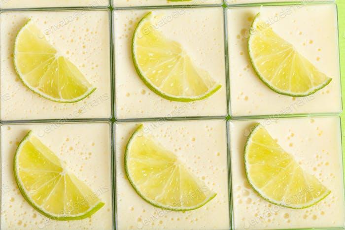 Delicious lemon panna cotta dessert.