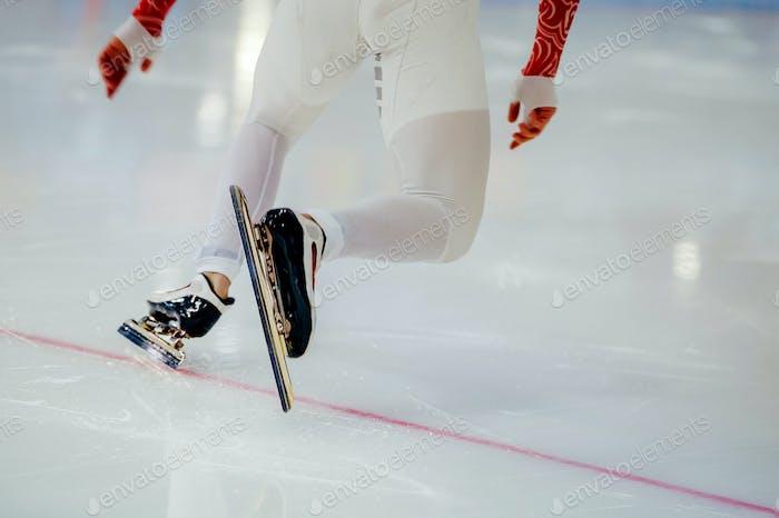 Start Beine Herren Athleten Eisschnellläufer