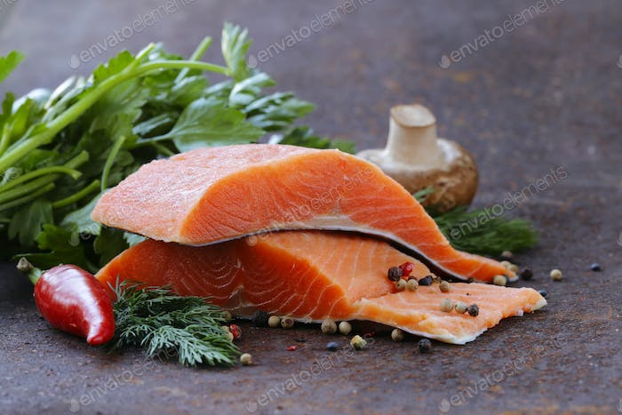 Fresh Salmon (Red Fish) Fillet