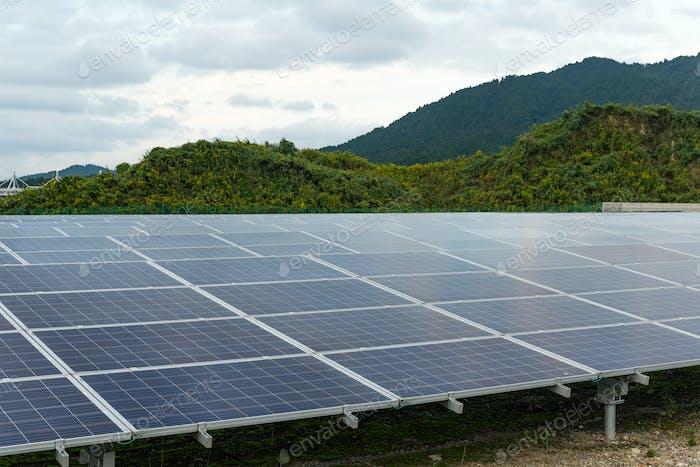 Solar panel power plant
