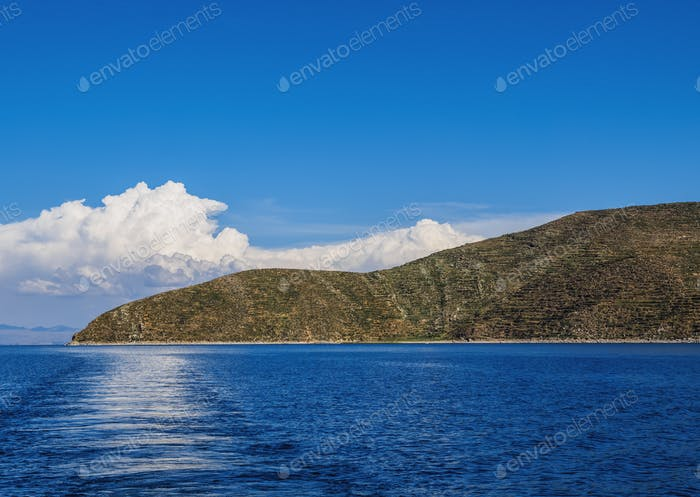 The Sun Island on Titicaca Lake in Bolivia