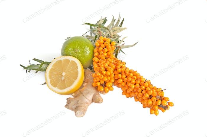 Sea-buchthorn,lemons and ginger.