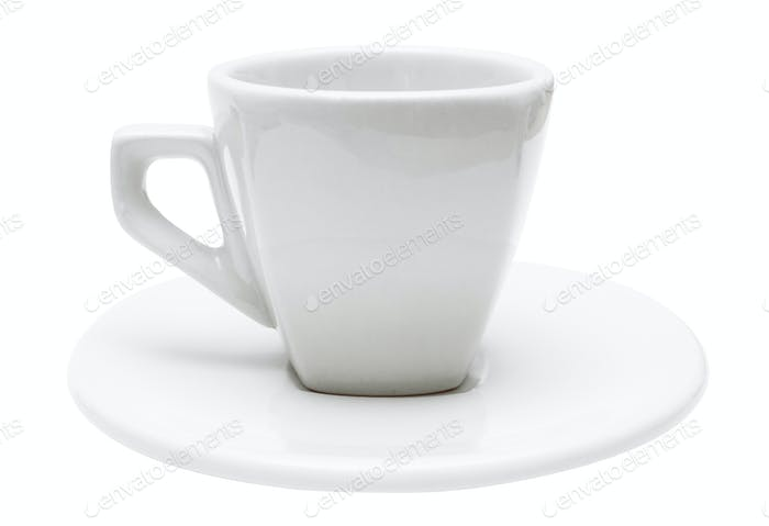White Espresso Cup with Clipping Path Isolated on a White Background