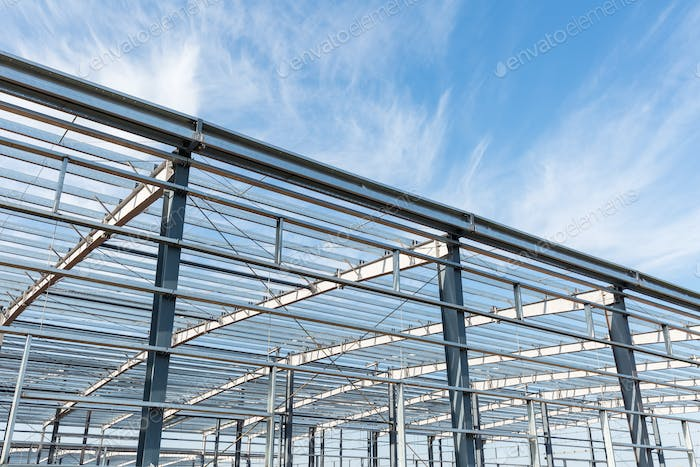 steel structure workshop background